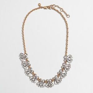 NEW J Crew Crystal Gold Firefly Statement Necklace